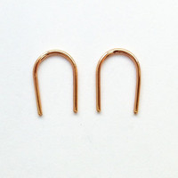 Arc Earrings Short (rose gold filled wire)