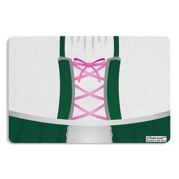 Dirndl Costume Green Placemat All Over Print by TooLoud