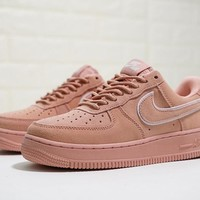 "Nike Air Force 1 07 LV8 Suede ""Pink"" Sneaker AA1117-601"