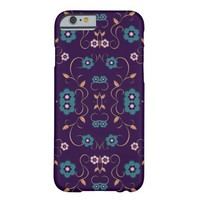 Pink Blue Floral Damask Ornaments iphone 6 cases Barely There iPhone 6 Case
