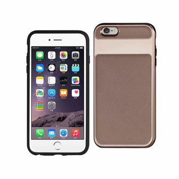 New Hybrid Solid Armor Bumper Case In Rose Gold For iPhone 6S Plus By Reiko