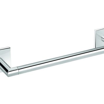 Square Self-Adhesive Towel Bar Rail Holder Hanger Bath Towel Hanging Rack Chrome