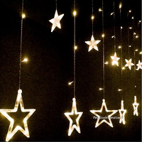 Fashion 12 Star Shape LED Flash Lights Party Wedding Festival Decorations Strobe Curtain Night Lights = 1838457284