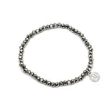 Knoxville Dark Grey Silver Sparkle Bracelet