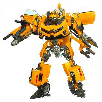 New Transformation Robot Car Action Figures Toys yellow Car Sam Classic Robot Toys Brinquedos Model toys For Children Gifts