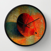Lemon Still Life, Lemon Graffiti, Orange - 10 Inch Round Wall Clock - kitchen, nursery, childrens room, new home, fun - Made To Order-LG#84