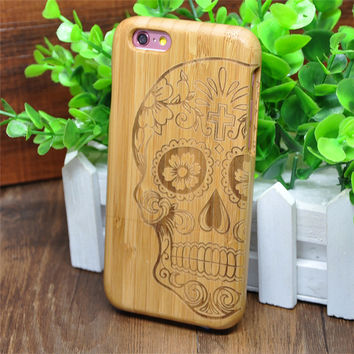 Wooden Bamboo Case Cover For iPhone 6 iPhone/ 6 Plus  +Screen Protector Film