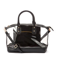 Black Winged Transparent Bowler Bag