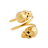 Wrapped Skull Ring