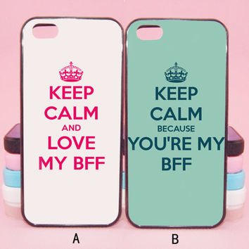 Keep Calm and Love My BFF couple cases,iPod 5,iPhone 5s/ 5c/5/4S/4 ,Samsung Galaxy S3/S4/S5/S3 mini/S4 mini/S4 active/Note 2/Note 3