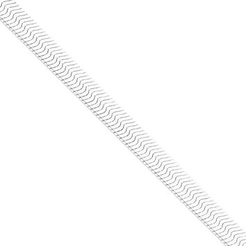 925 Sterling Silver 8.75mm Magic Herringbone Chain Necklace: Herringbone Chain Necklace in Sterling Silver - Lobster Claw - Remarkable