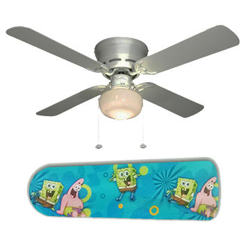 "Spongebob and Patrick 42"" Ceiling Fan and Lamp"