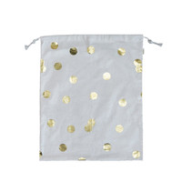 Gold Polka Dot Laundry Bag