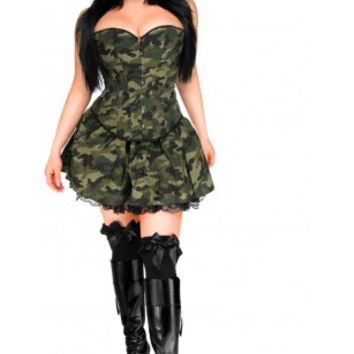 Green 3 PC Sexy Army Girl Costume @ Amiclubwear costume Online Store,sexy costume,women's costume,christmas costumes,adult christmas costumes,santa claus costumes,fancy dress costumes,halloween costumes,halloween costume ideas,pirate costume,dance cost