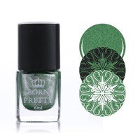 1 Bottle 6ml Born Pretty Stamping Polish Nail Art Varnish Nail Plate Printing Polish #37
