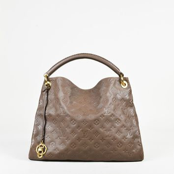 "Louis Vuitton ""Ombre"" Brown ""Monogram Empriente"" Leather ""Artsy MM"" Bag"