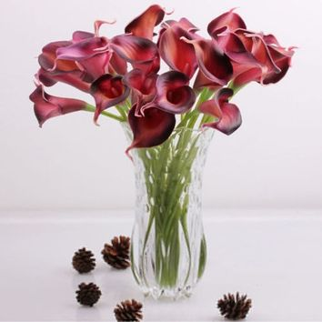 Flower Party Fake Bridal Home Calla Artificial Flowers Bouquet Wedding