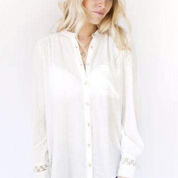 Free People The Best Blouse Ivory OB495809