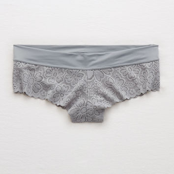 Aerie Lace Sunnie Cheeky, Slab Gray