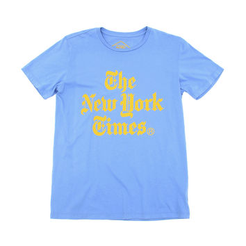 NYT Stacked - Blue Tee