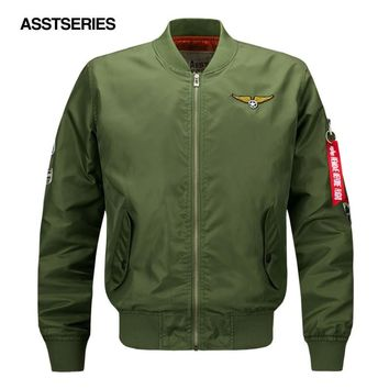 Brand Men US Pacth Bomber Jacket Thin Style Luxury Windproof Air Force Embroidery Men Pilot Jacket Military Tactical Jacket 6XL