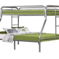 Silver Metal Twin / Full Bunk Bed Only