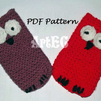 Instant download Crochet Case Pattern for Samsung S3 Mini, instant download, smartphone holder, owl, crochet, pdf