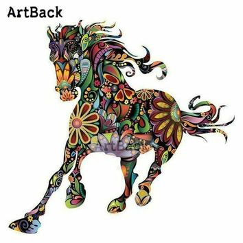 5D Diamond Painting Abstract Flower Horse Kit