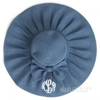 Monogrammed Ruffle Girly Hat | Marleylilly