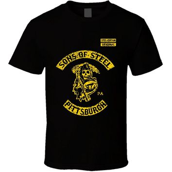 2017 fashionT-Shirt Bandit Sons of Steel Pittsburgh Curtain Steelers SOa Reaper Footballer cotton O-Neck T Shirt