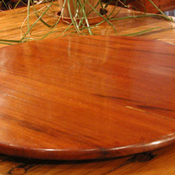 "Lazy Susan - 30"" Ultra Thin 3/4"" - Cherry Stain Wood Masterpiece - Free Shipping!"
