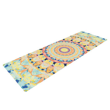 "Iris Lehnhardt ""Flourish"" Circle Yellow Yoga Mat"