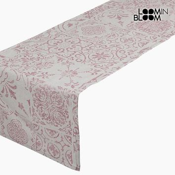 Table Runner Cotton and polyester Pink (135 x 40 x 0,05 cm) by Loom In Bloom