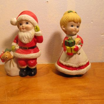 Mr. and Mrs. Clause made by homco figurines