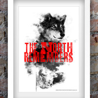 Game of Thrones Inspired Print A3 (The North Remembers)