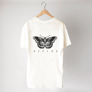 Tattoo Harry Style shirt - Cream/Unisex/Cotton Blend Fashion T- shirts - TAS-048