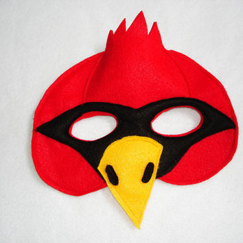Children's CARDINAL Bird Felt Mask