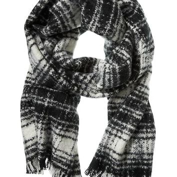 Banana Republic Farrah Plaid Scarf Size One Size - Cocoon