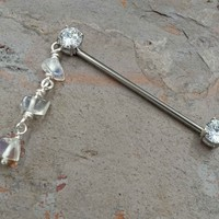 Industrial Barbell Scaffold Piercing