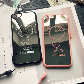Stylish On Sale Cute Iphone 6/6s Hot Deal Iphone Apple Soft Silicone Mirror Phone Case [8383659719]