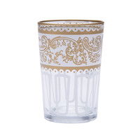 White Moroccan Tea Glasses - Set of 6