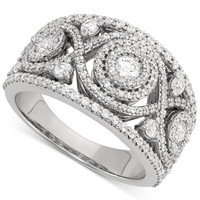 Wrapped in Love™ Diamond Cluster Ring (1-1/2 ct. t.w.) in 14k White Gold