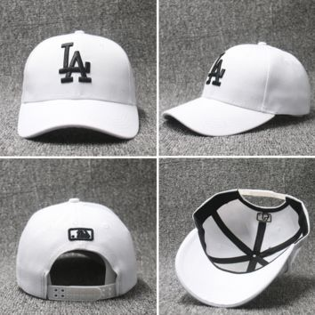 LA Embroidered Baseball cotton cap Hat