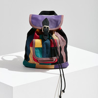 Mini Canvas Patchwork Backpack | Urban Outfitters