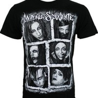 Motionless In White Faces Black Men's T-Shirt - Offical Band Merch - Buy Online at Grindstore.com
