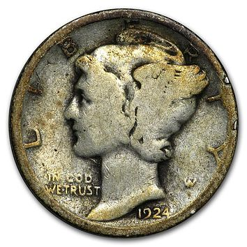 1924 Mercury Dime Good/Fine