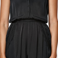 Kendall and Kylie Tulip Lace Trim Halter Romper at PacSun.com