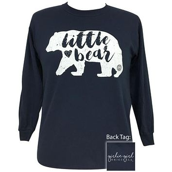Girlie Girl Originals Preppy Little Bear Long Sleeve T-Shirt
