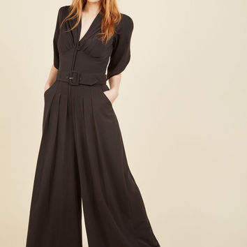 Miss Candyfloss The Embolden Age Jumpsuit in Noir