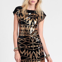 Aztec God Sequined Dress - $68.00: ThreadSence, Women's Indie & Bohemian Clothing, Dresses, & Accessories